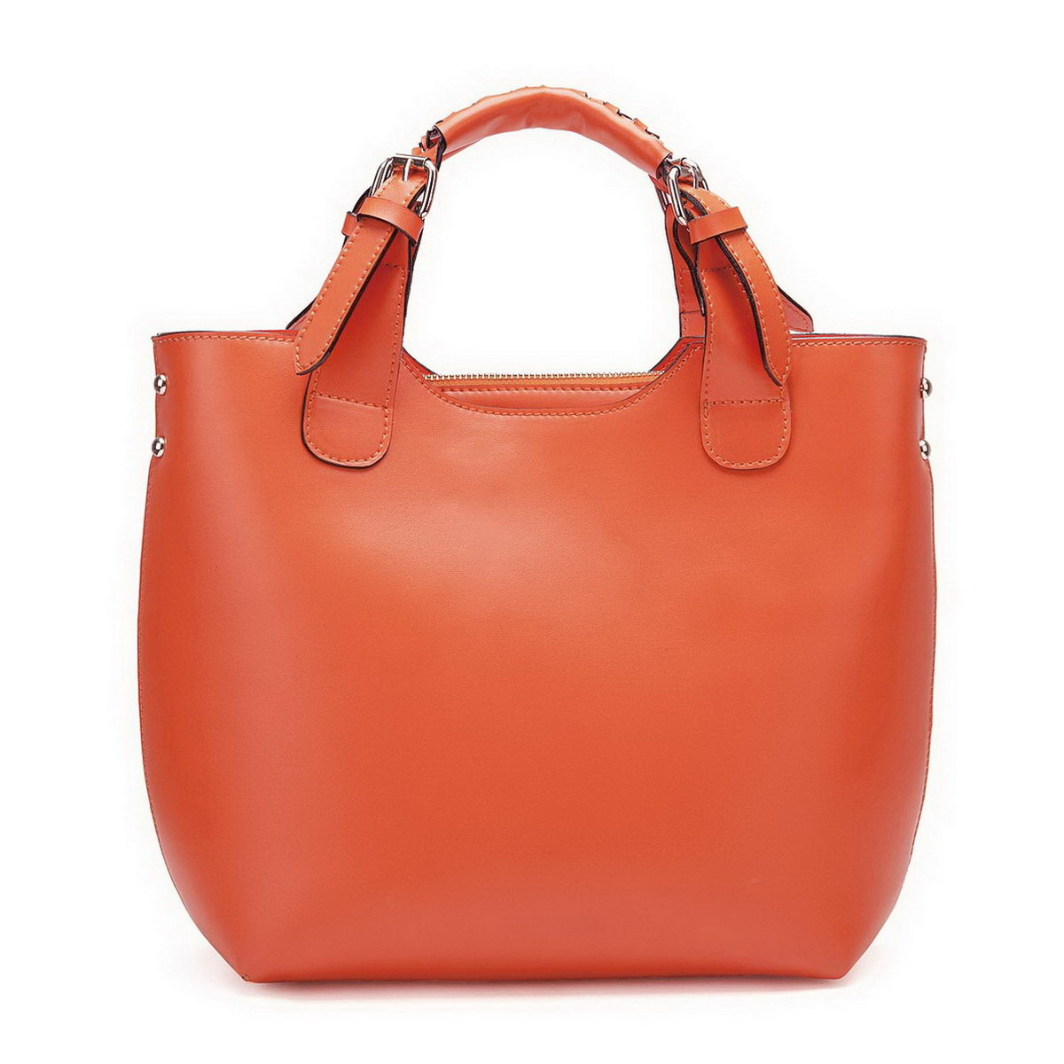 789f57af7c NUCELLE leather women Tote bag Orange