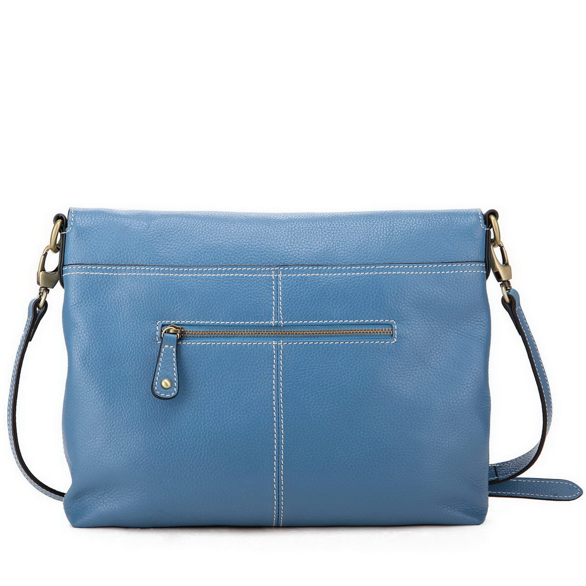 ...  Women's Bags  Messenger Bags  Cowhide leather messenger bag Blue