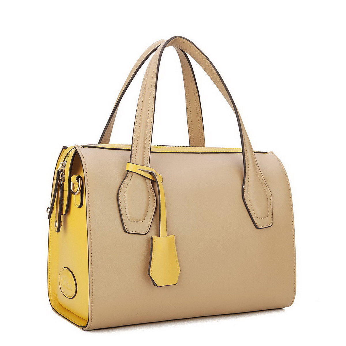 Home > Women s Bags > Tote Bags > Inspired leather handbags Apricot