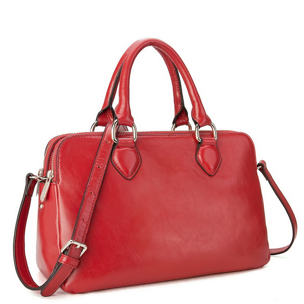 Brand leather handbags Red