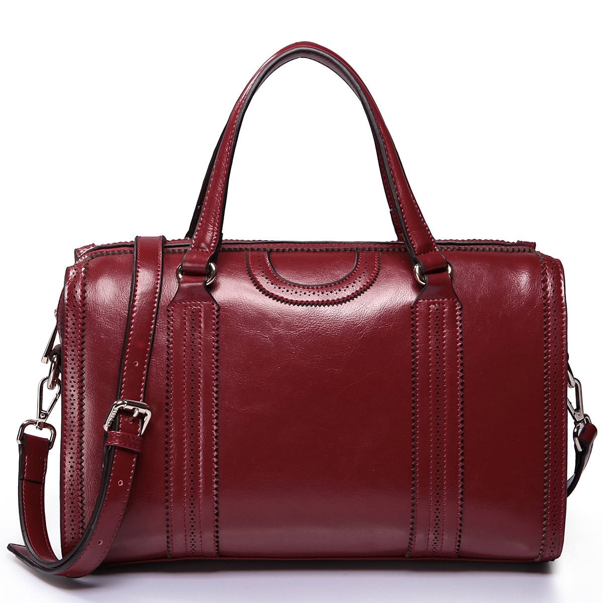 Leather women bags Red