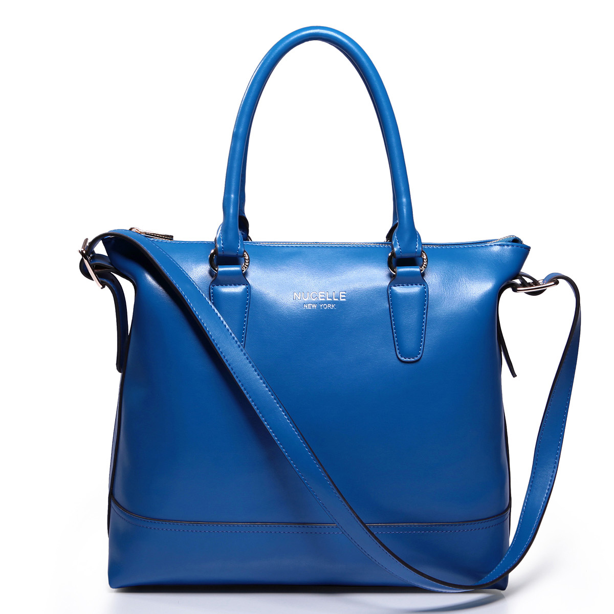 collection leather handbag Blue