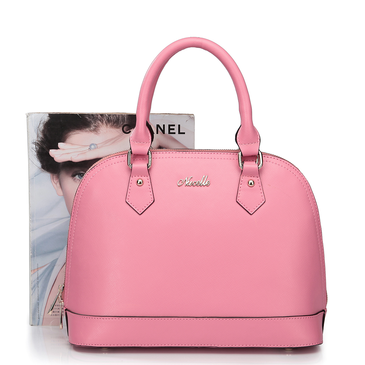 lady leather bags Pink
