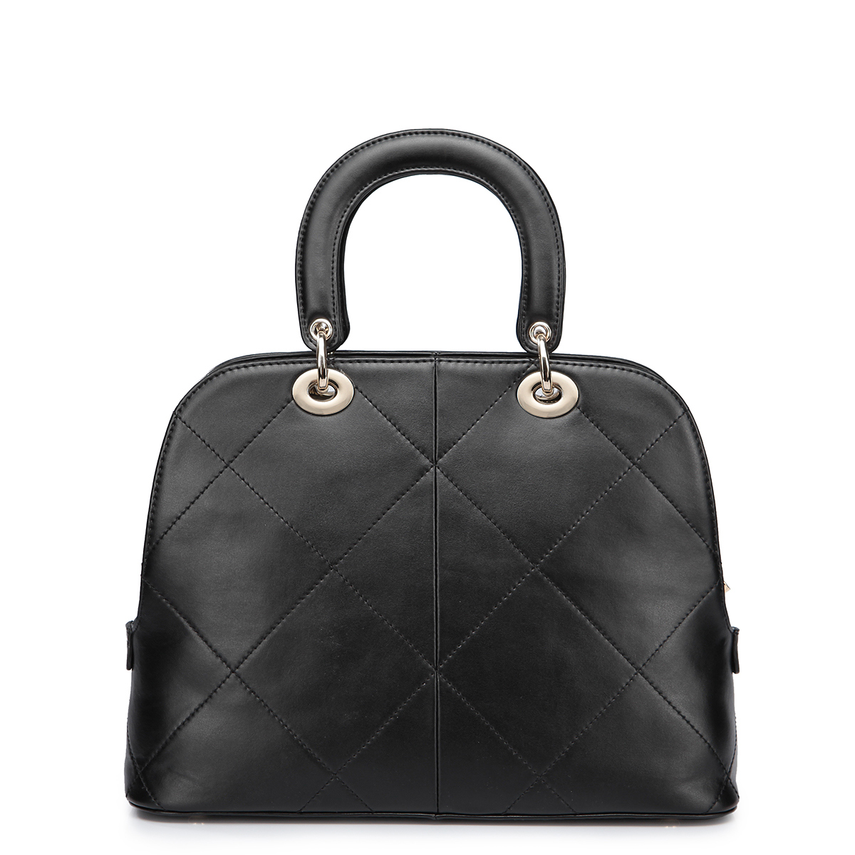 Europe and the United States Real leather fashion bag Black