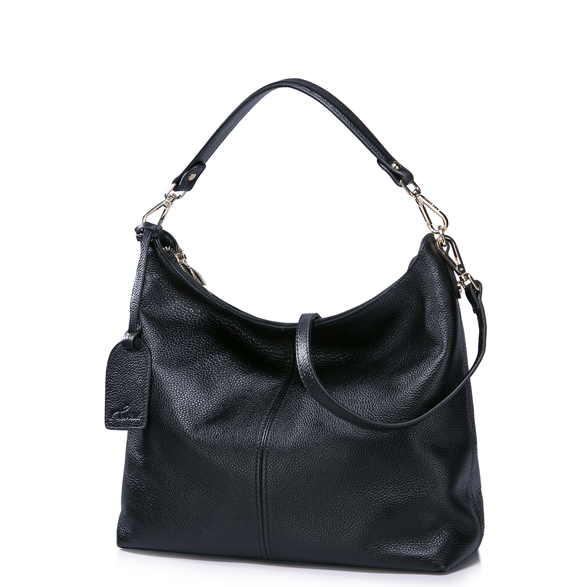 NUCELLE genuine leather bag black