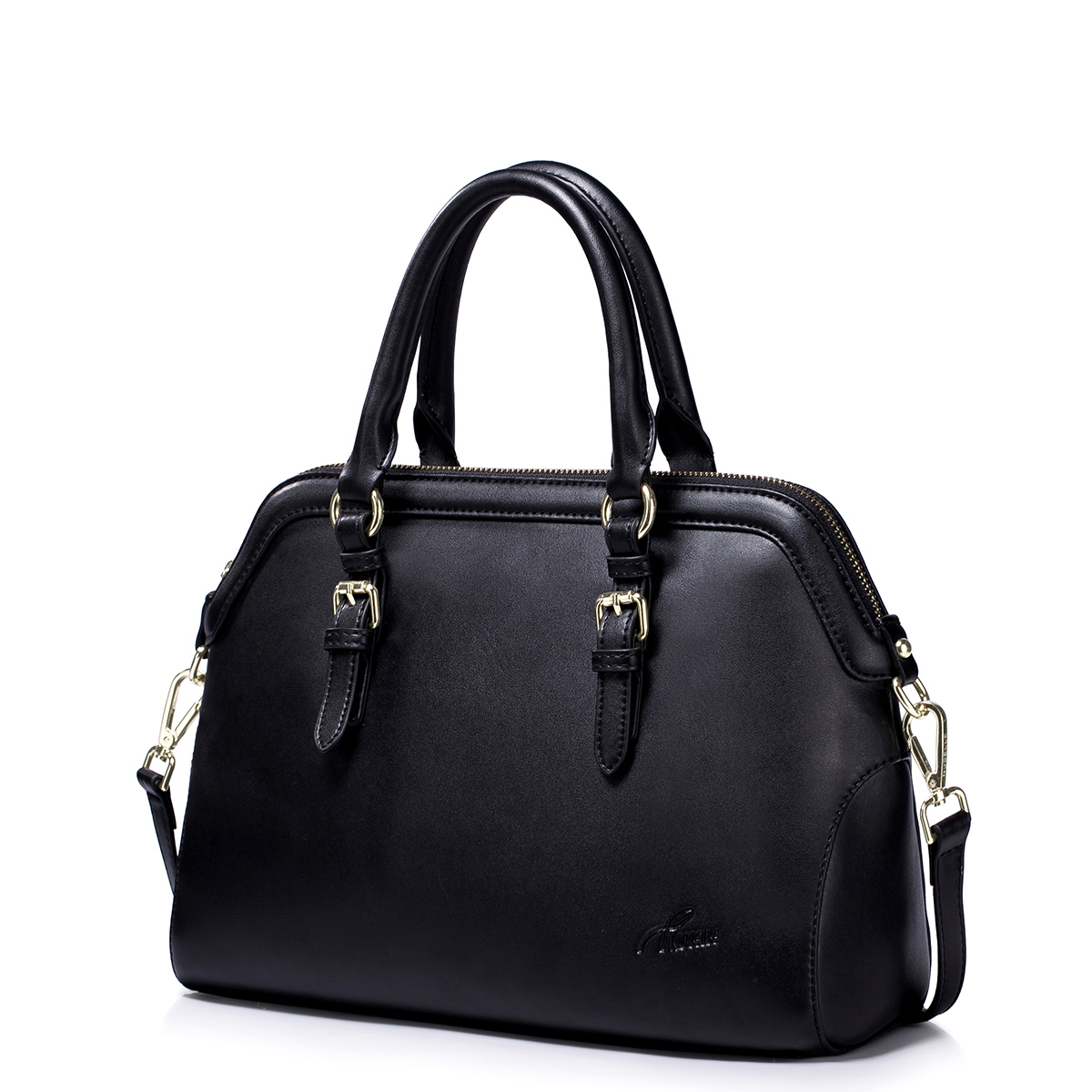 NUCELLE Cowhide leather handbag Black