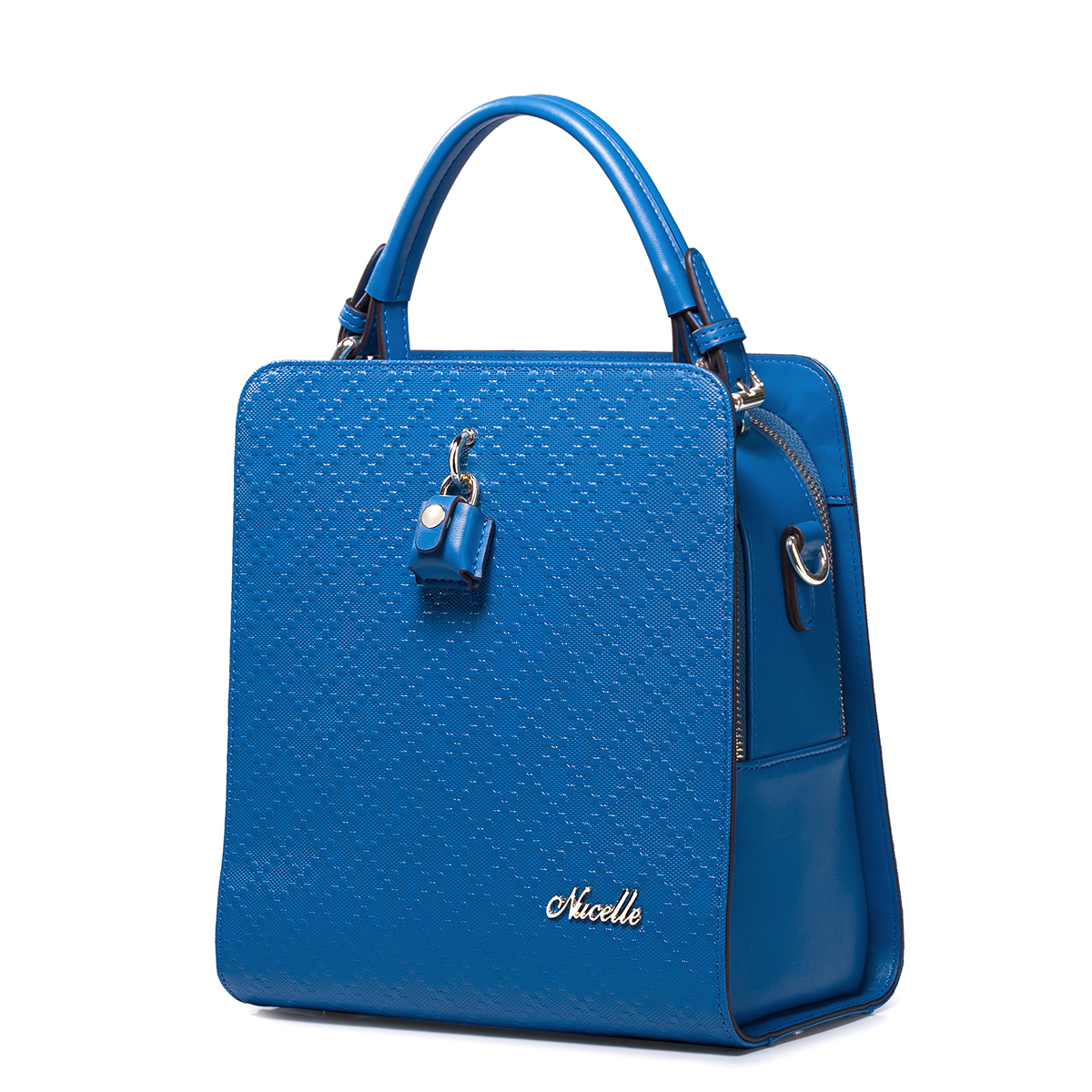 NUCELLE Real leather handbags/shoulder bag Blue