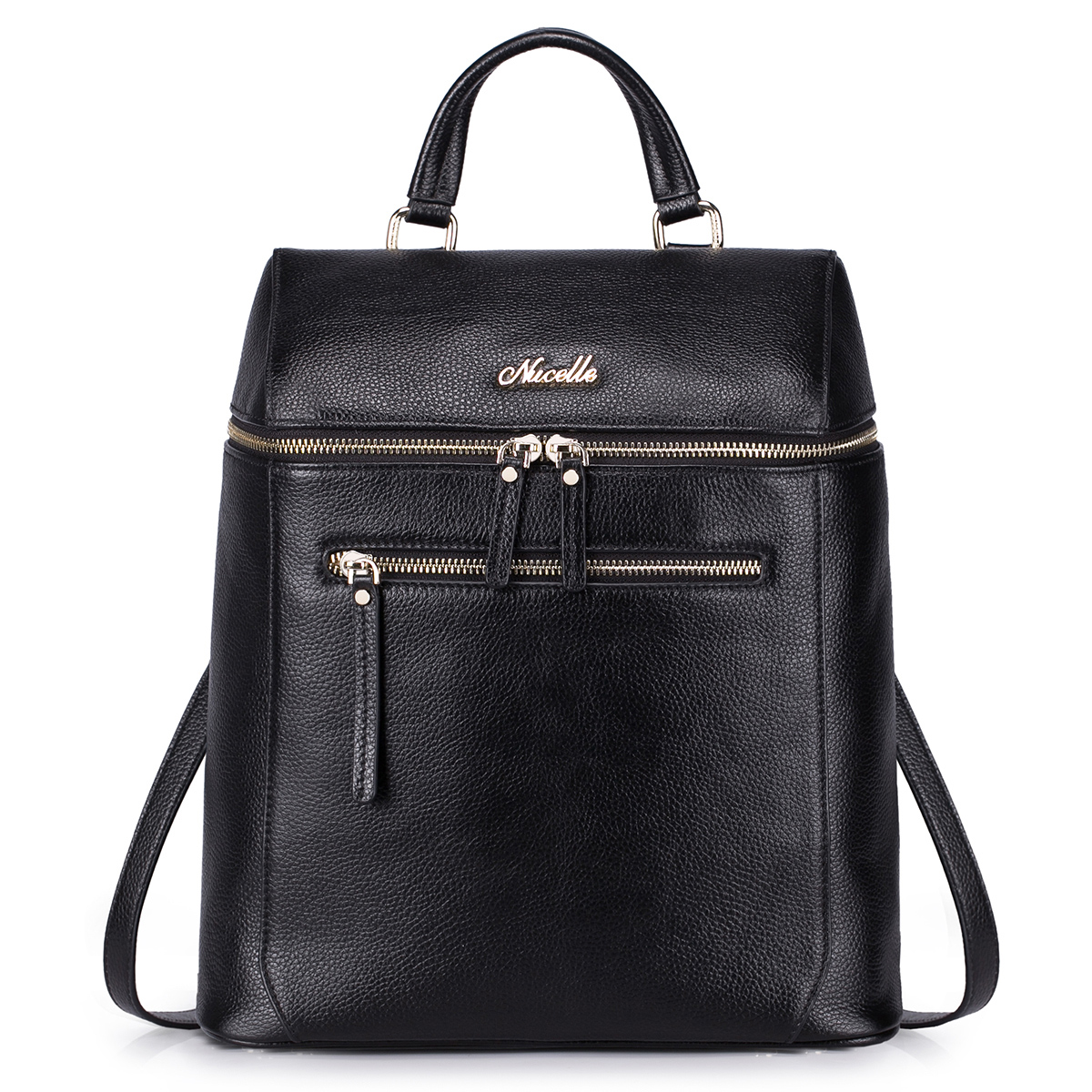 fashion leather backpack Black