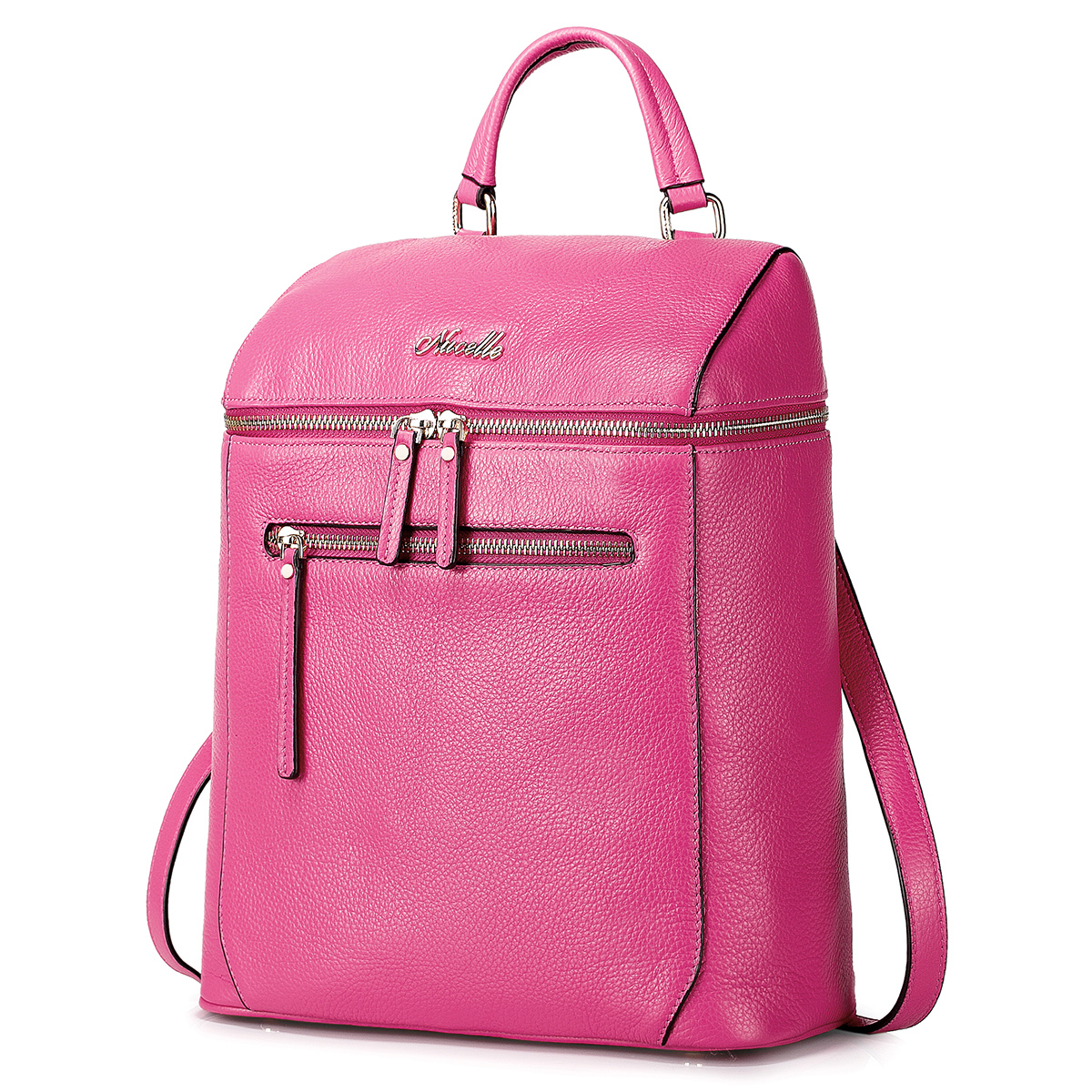 fashion leather backpack Rose