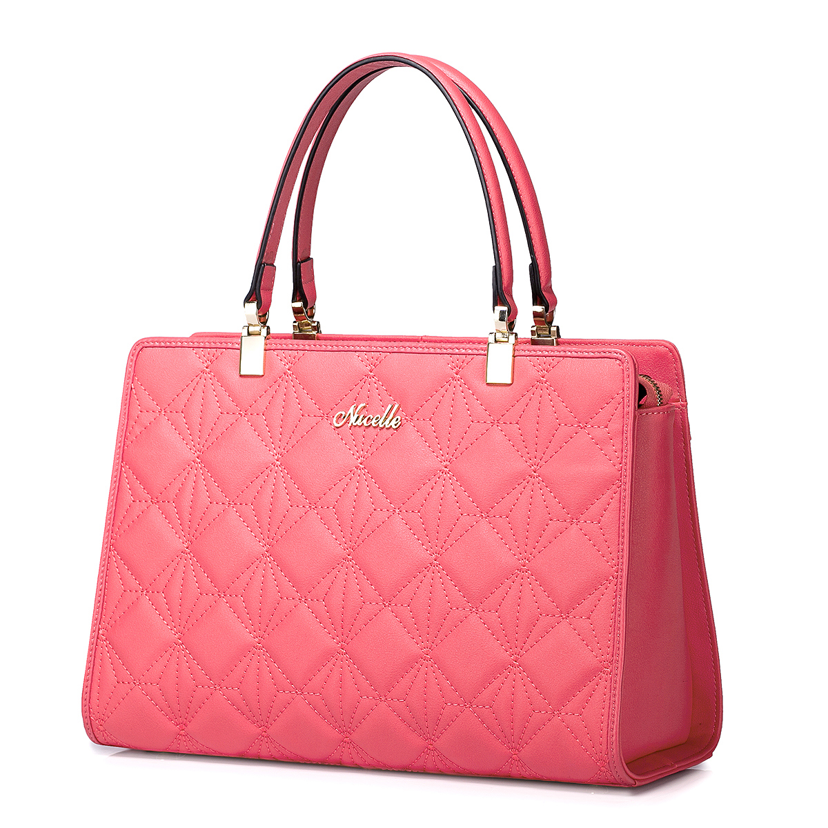 women handbags solid color Genuine leather lady bag Red