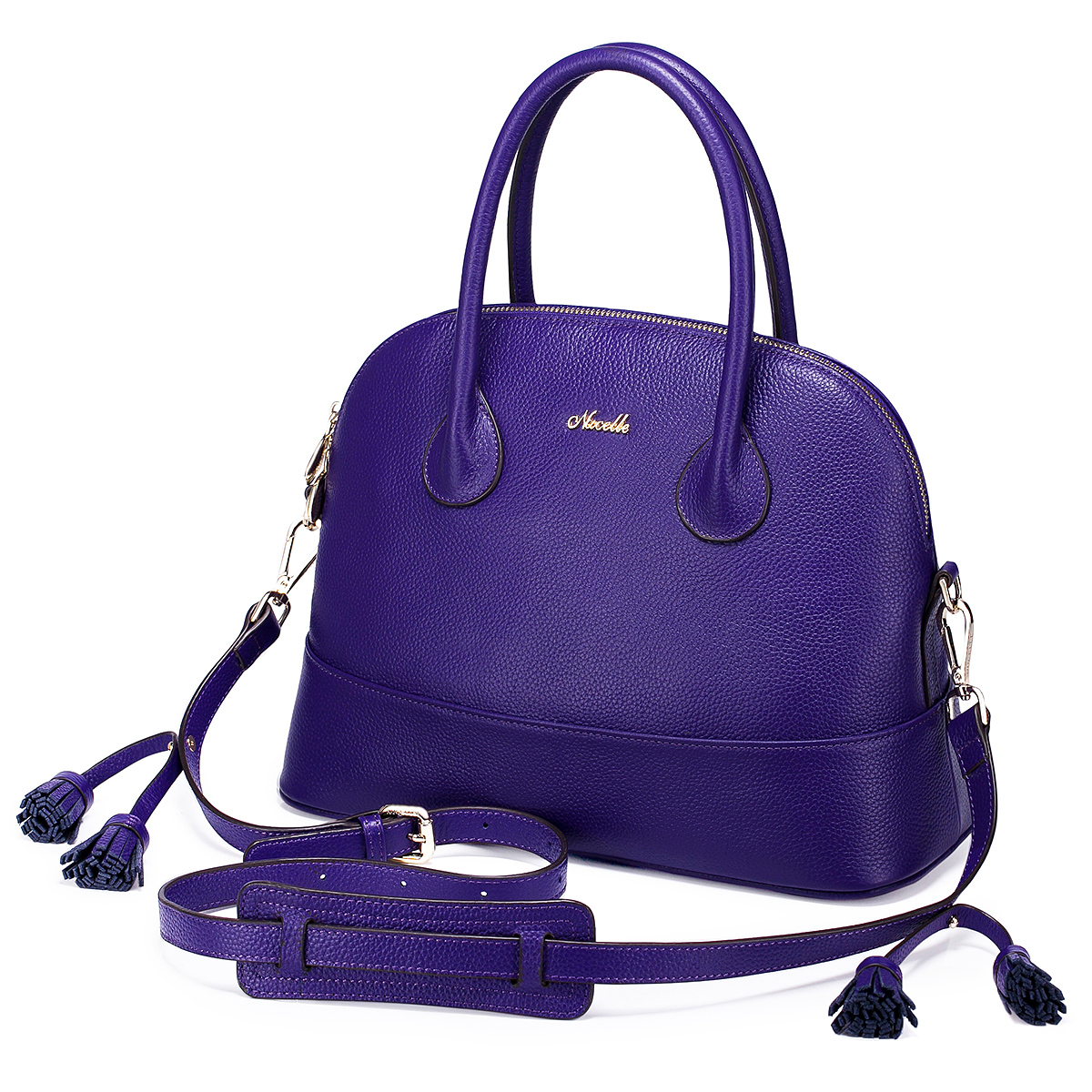 a32e70a7a90d NUCELLE shell simple leather handbag Purple