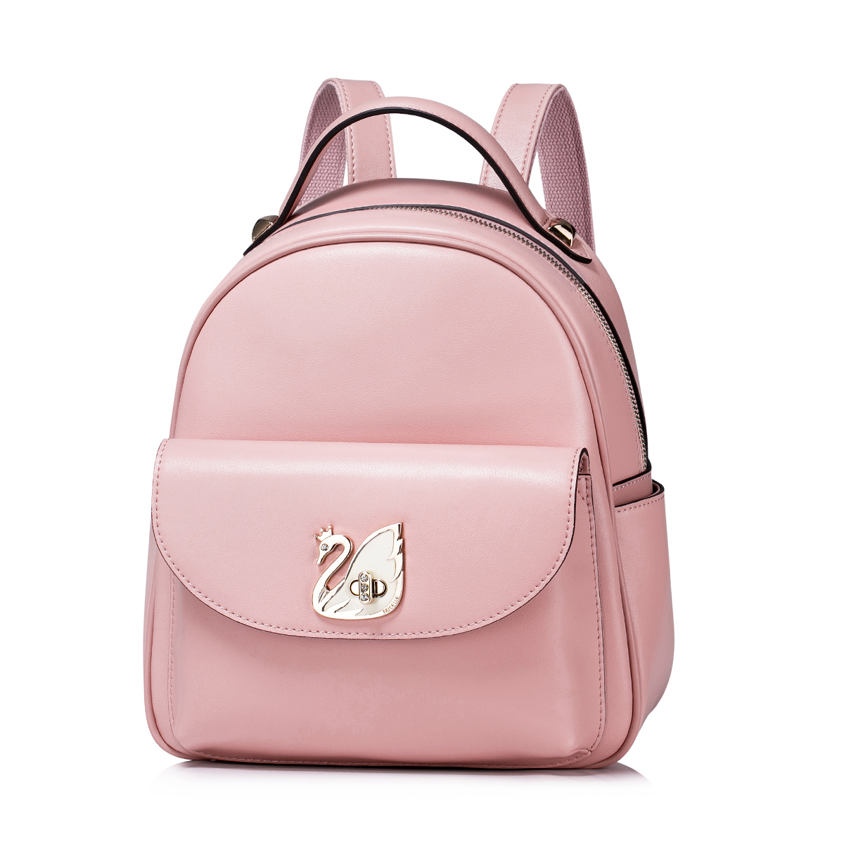 NUCELLE Genuine Leather 2016 Autumn New Casual Style Backpack Pink 39362547fbbe9