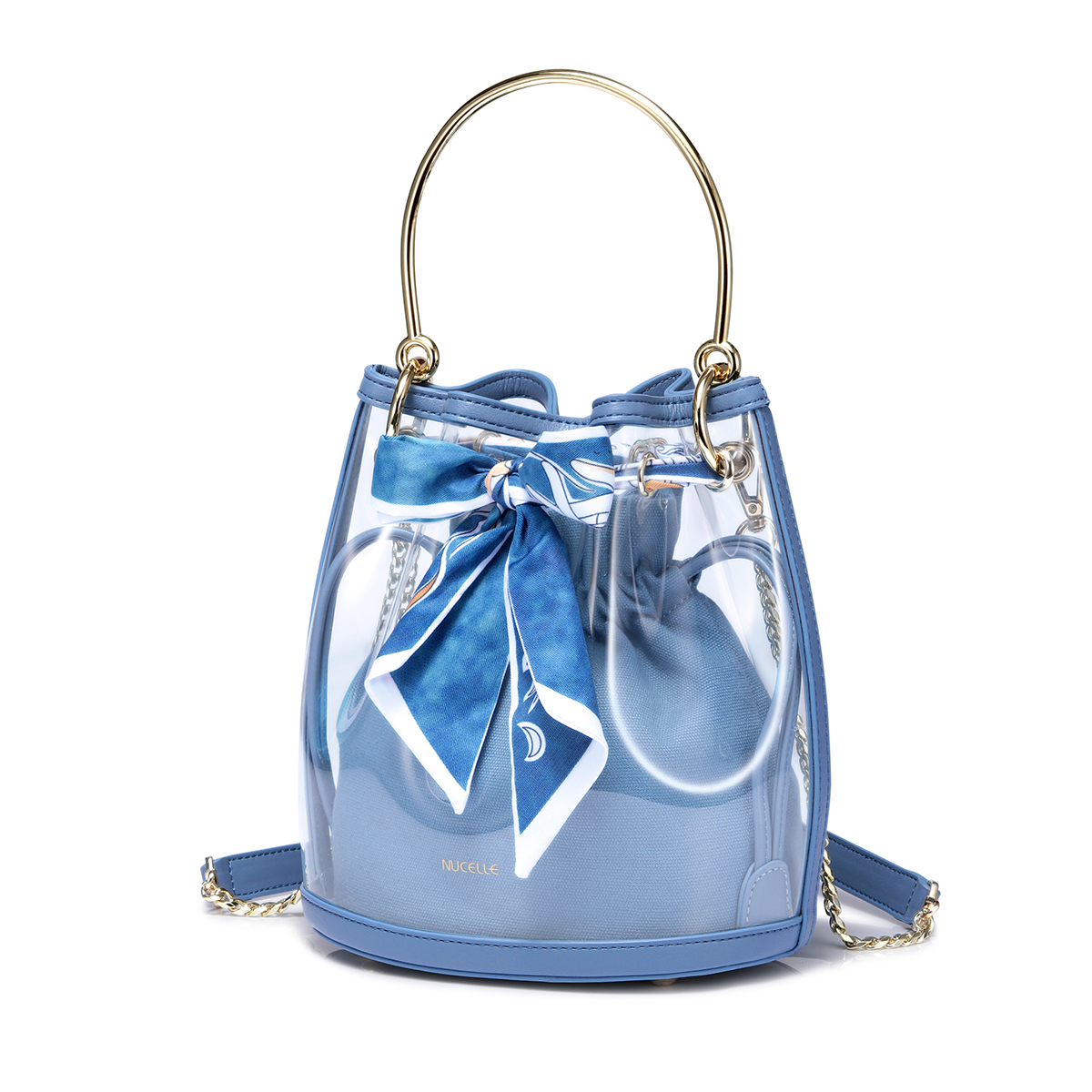 Nucelle 2019 New Stylish Spring Jelly Bag Blue
