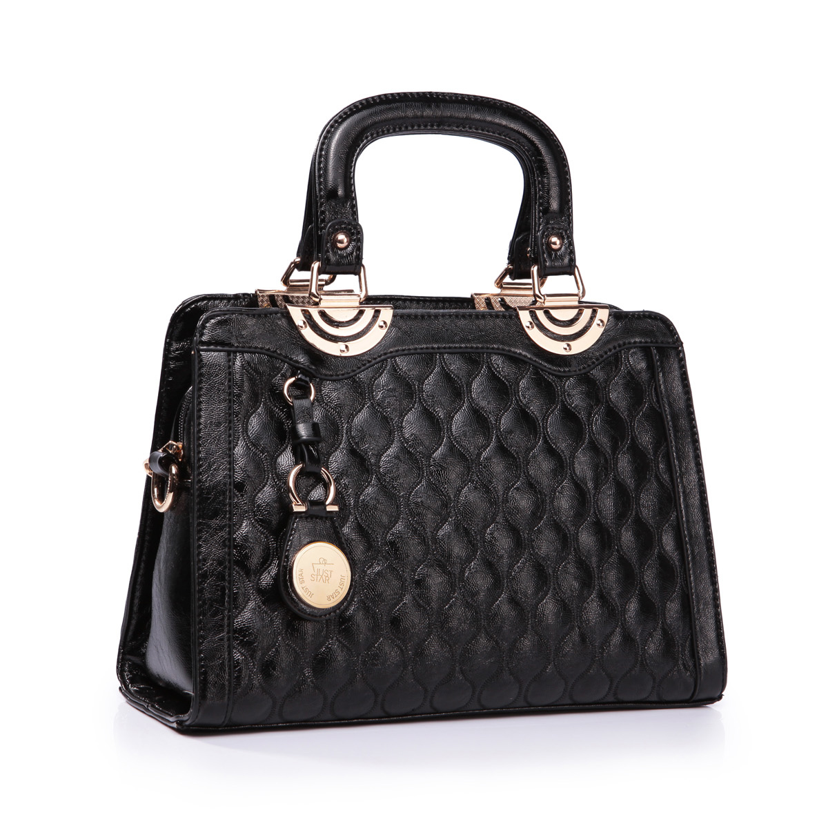 PU leather tote bag Black