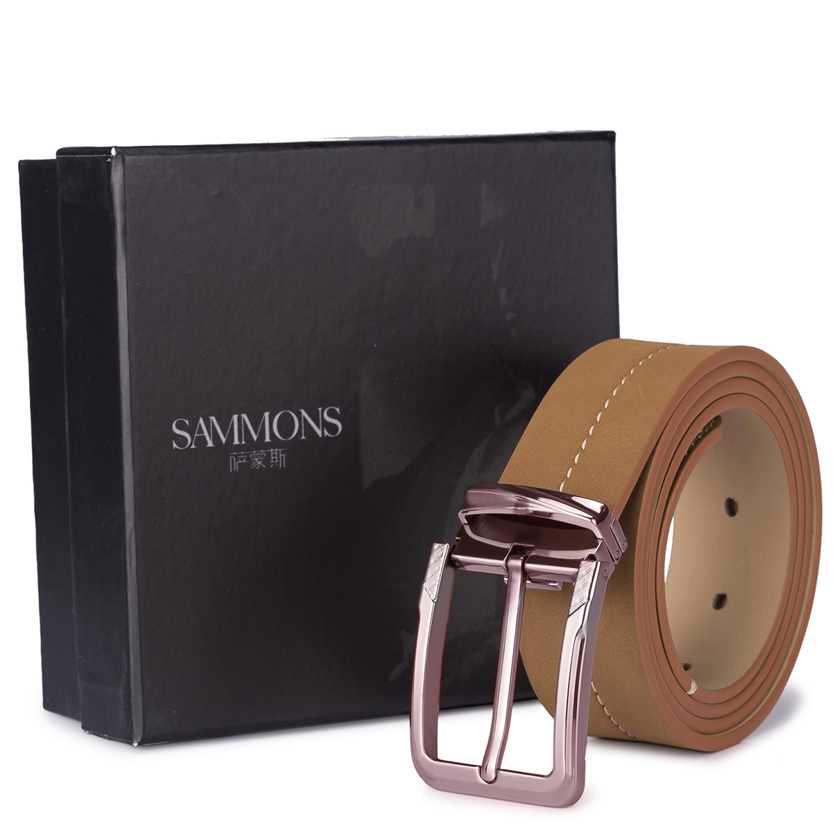 sammons high quality leather belt brown