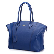 NUCELLE top grade cowhide big size handbag Blue,Casual bags, handbags wholesale, brand bags
