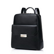 NUCELLE Cowhide Leather 2016 Autumn Fashion Simple Style Backpack Black,Casual bags, handbags wholesale, brand bags