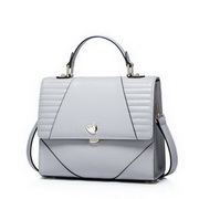 NUCELLE Genuine Leather 2016 Autumn New French Embroider Line Cube Bag Gray,Casual bags, handbags wholesale, brand bags