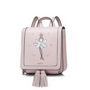 NUCELLE 2017 New Special Rotating Ballet Girl Series Backpack Pink,Casual bags, handbags wholesale, brand bags