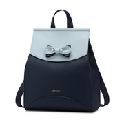 NUCELLE New Season Bowknot Contrast Color Sweet Backpack Blue,Casual bags, handbags wholesale, brand bags