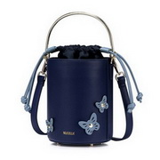 NUCELLE 2017 New Popular Solid Butterfly Column Bag Shoulder Bag Blue,Casual bags, handbags wholesale, brand bags