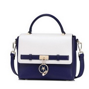 NUCELLE 2017 New Soft Contrast Color Lady Handbag Blue&White,Casual bags, handbags wholesale, brand bags
