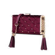 NUCELLE 2018 New Elegant Fashion Evening Bag Wine Red,Casual bags, handbags wholesale, brand bags