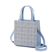NUELLE 2019 New Fashion Checkered Shoulder Bag Sky Blue,Casual bags, handbags wholesale, brand bags