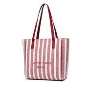 NUCELLE 2019 New Winter Stripe Element Tote Bag Red,Casual bags, handbags wholesale, brand bags