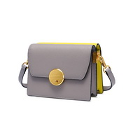 NUCELLE 2020 High Quality Contrast Double color Women Shoulder Bag Gray&Yellow,Casual bags, handbags wholesale, brand bags