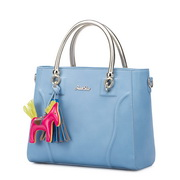 JUST STAR horse hanging color blocking totes Blue,Casual bags, handbags wholesale, brand bags