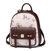 JUST STAR PU 2017 New Hot Selling British Style Backpack Brown,Casual bags, handbags wholesale, brand bags