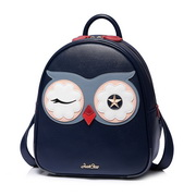 JUST STAR PU 2018 New Lovely Cute Owl Backpack Blue,Casual bags, handbags wholesale, brand bags