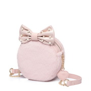 JUST STAR 2018 New Winter Lovely Girls Round Bag Pink,Casual bags, handbags wholesale, brand bags