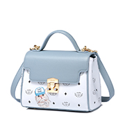 JUST STAR PU 2019 New Cute Printing Kelly Bag Blue,Casual bags, handbags wholesale, brand bags
