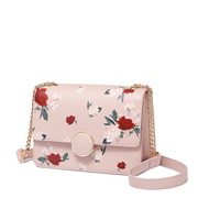 JUST STAR 2019 New Fashion Vintage Flower Printing Shoulder Bag Pink,Casual bags, handbags wholesale, brand bags
