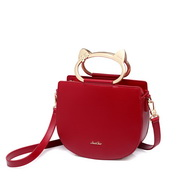 JUST STAR PU 2019 New Cute Cat Saddle Bag Red,Casual bags, handbags wholesale, brand bags