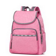 JOLUCY Nylon New Fashionable Simple Eroupean Style Large Capacity Backpack Pink,Casual bags, handbags wholesale, brand bags