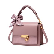 NUCELLE 2020 New Fashionable Romantic Bow Scarf Women Shoulder Bag Purple,Casual bags, handbags wholesale, brand bags
