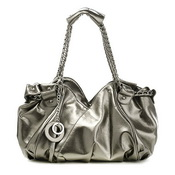 Elegance series oil leather fashion hobos Sliver Grey