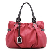 Wholesale PU leather hobos bag Wine red
