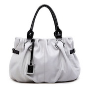 Wholesale PU leather shoulder bag Grey Color