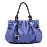 Wholesale PU leather shoulder bag Blue Color