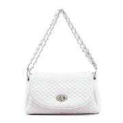 Chain messenger bag White