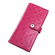 lady leater wallets Rose red