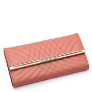 Cowhide leather lady wallets Pink