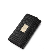 Suede women wallet Black