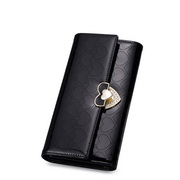 Genuine leather wallet ladies  Black