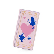 Sweet girl leather wallet Pink