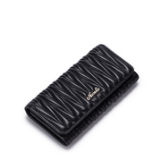 NUCELLE Sheepskin Leather Purse Soft Black